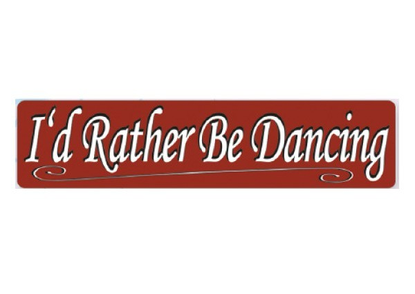 "PC206 New sKool ""Rather be Dancing"" Bumper Sticker"