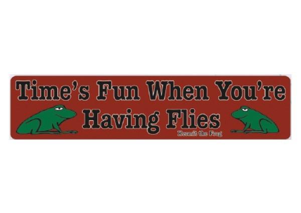 "PC207 New sKool ""Time's fun when you're having flies"" Bumper Sticker"