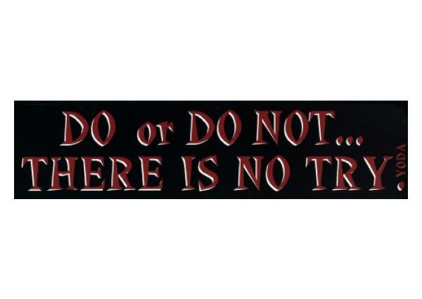 "PC208 New sKool ""Do or Do Not"" Bumper Sticker"
