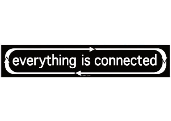 "PC256 New sKool ""Everything is Connected"" Bumper Sticker"