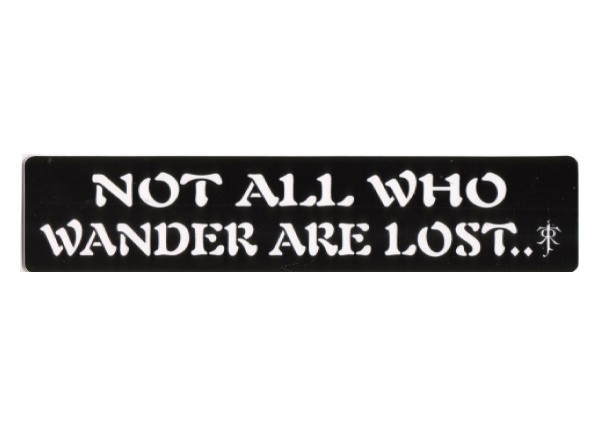 "PC269 New sKool ""Not all who wander are lost"" Bumper Sticker"