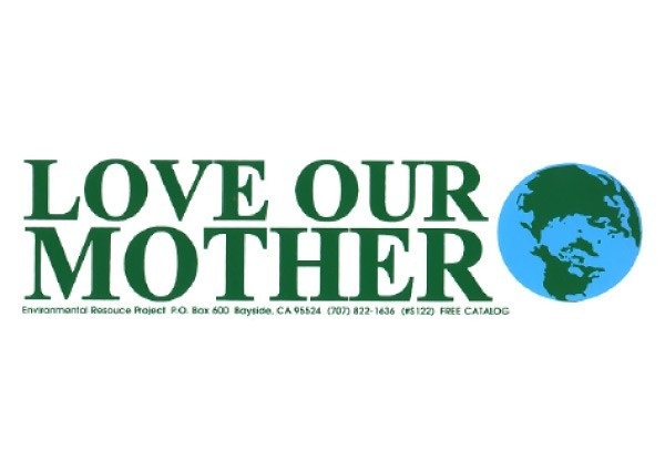 "PC4 Peace Resource Project ""Love our Mother"" Bumper Sticker"