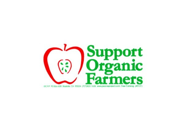 "PC11 Peace Resource Project ""Support Organic Farmers"" Bumper Sticker"