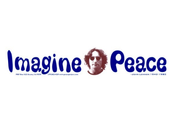 Pc31 peace resource project imagine peace bumper sticker