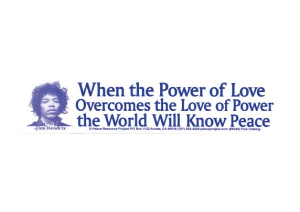 "PC57 Peace Resource Project ""Power of love"" Bumper Sticker"