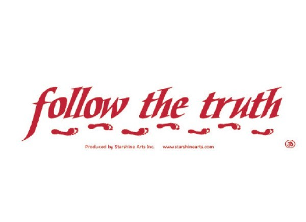 "PC272 Starshine Arts ""Follow the truth"" Bumper Sticker"