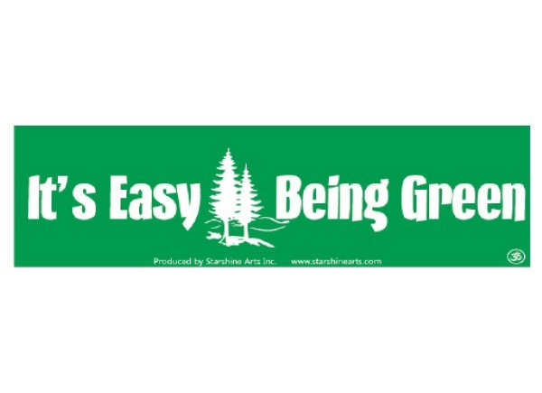 "PC274 Starshine Arts ""It's Easy Being Green"" Bumper Sticker"