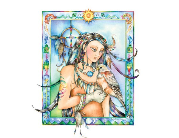 STAR129 Linda Biggs Medicine Woman Sticker