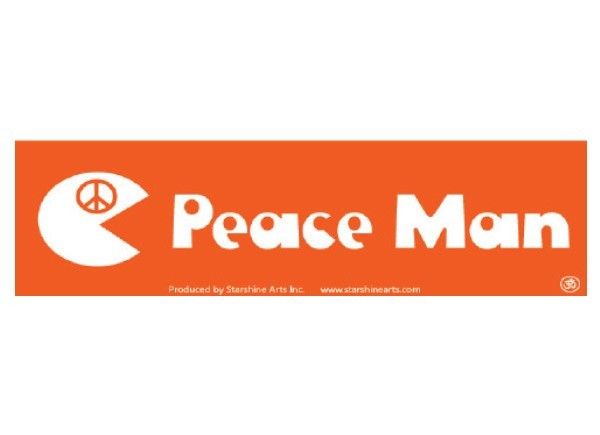 Pc281 starshine arts peace man bumper sticker