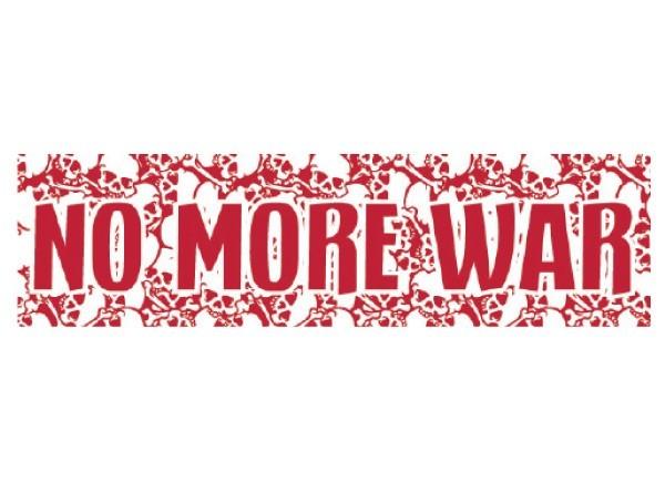 """PC284 Starshine Arts """"No more war"""" Bumper Sticker"""