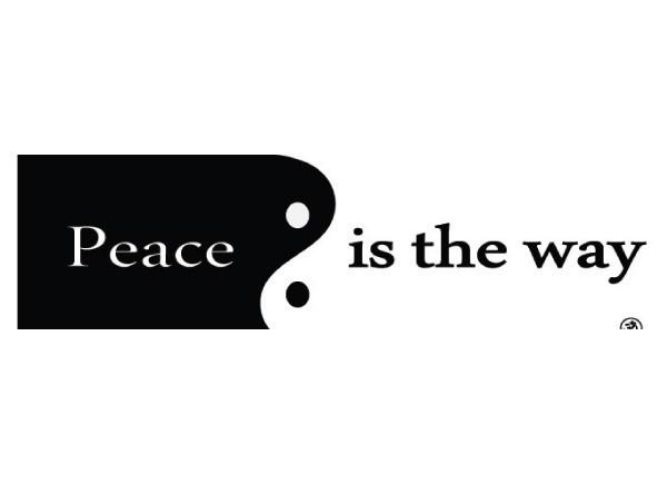 "PC287 Starshine Arts ""Peace is the way"" Bumper Sticker"