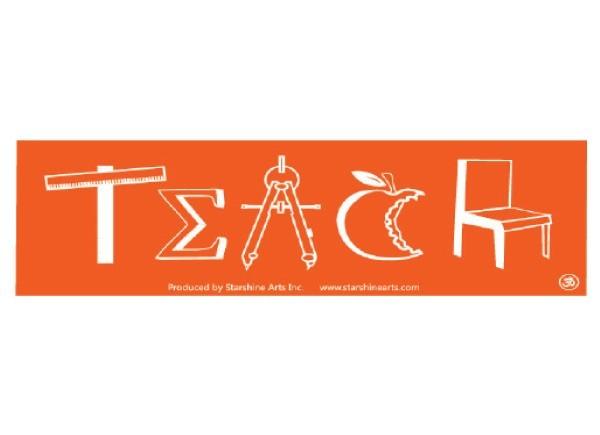 "PC288 Starshine Arts ""Teach"" Bumper Sticker"