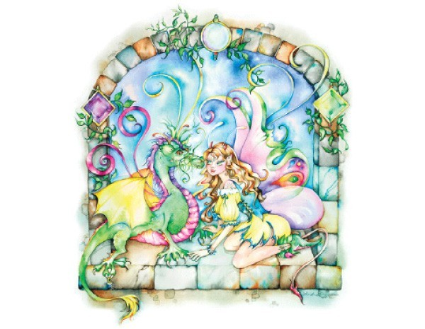 STAR132 Linda Biggs Magic Moonstone Sticker