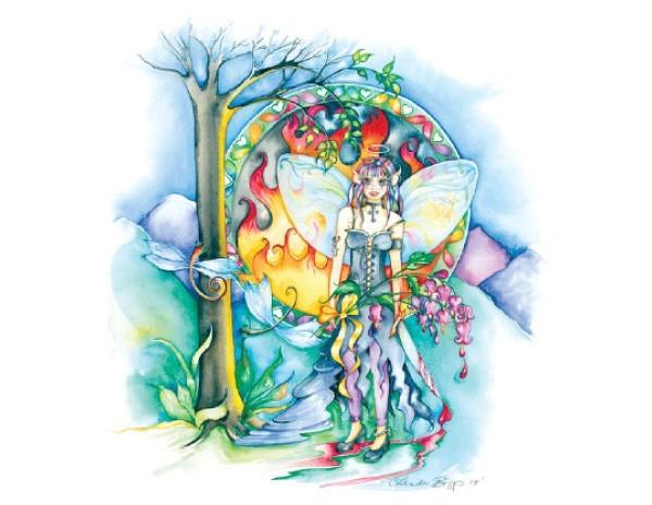 STAR135 Linda Biggs The Healer Sticker