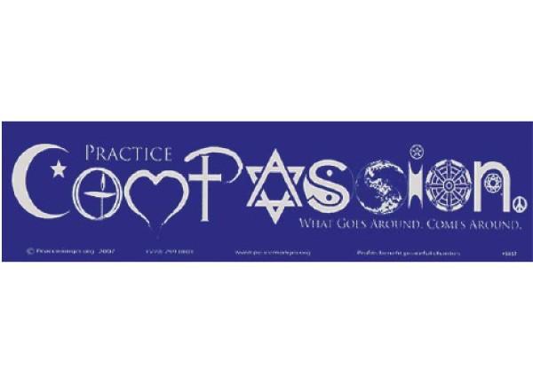 "PC197 Peacemonger ""Compassion"" Bumper Sticker"
