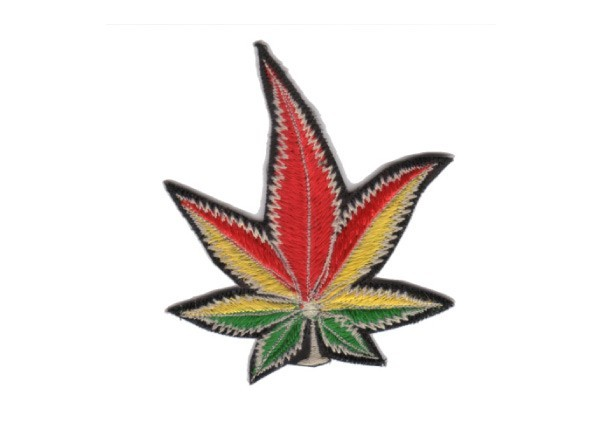 """EP107 Patches For Life """"Rasta Leaf"""" Patch"""